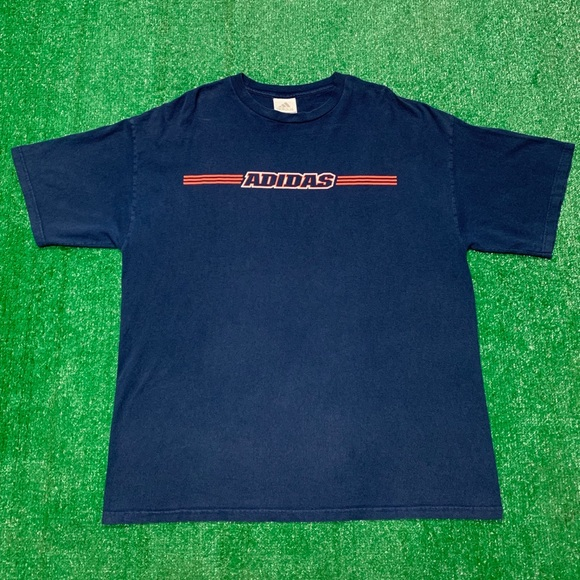 Vintage Other - Vintage 90s Adidas Spellout Three Stripes Shirt